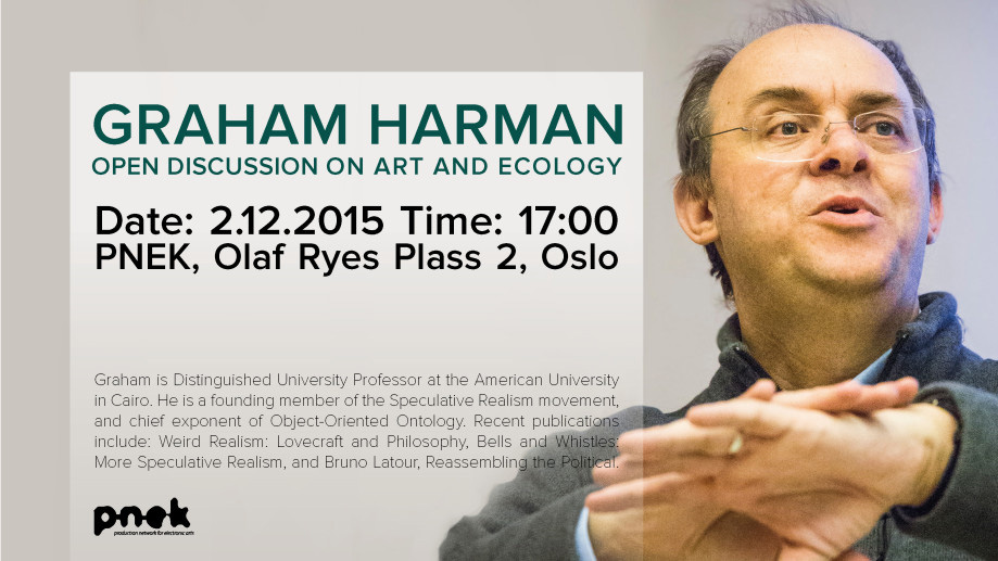 Graham Harman – Open Discussion on Art and Ecology