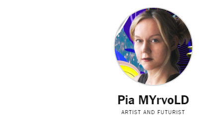 Pia MYrvoLD at ART FOR TOMORROW conference