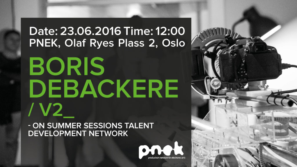 PNEK Art Talks: Boris Debackere